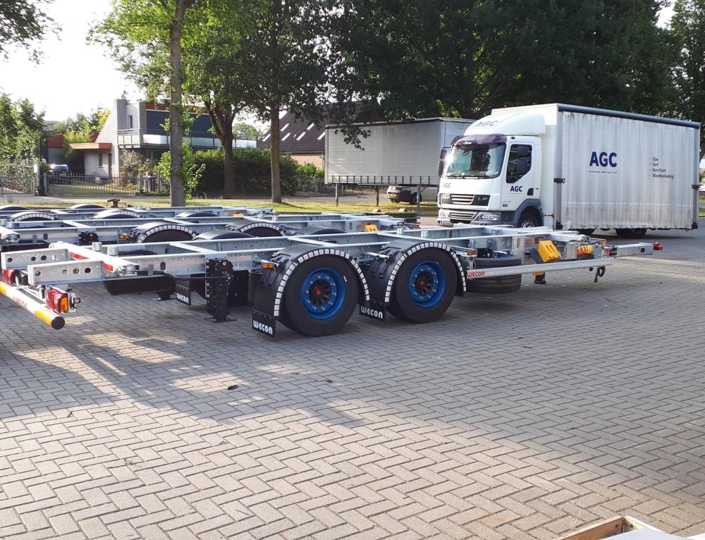 3x Wecon Middenas-aanhangers voor Hartog & Bikker